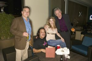 (2010 Finals/Los Angeles) ...Yes. You'll probably never this this happen again. It's the National Geographic Photography guys with porn star Ron Jeremy. Only at Playboy Golf!